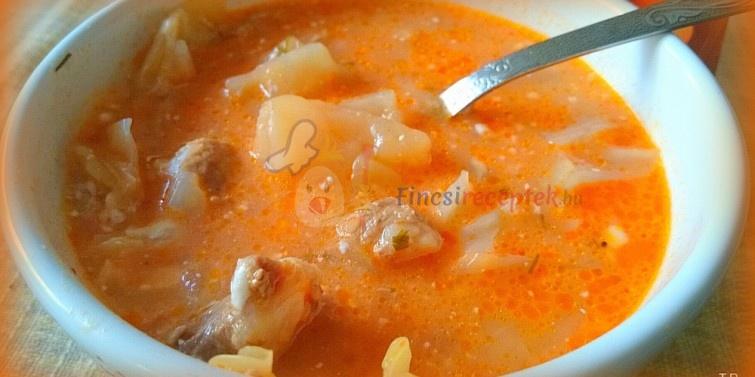 káposzta leves recept