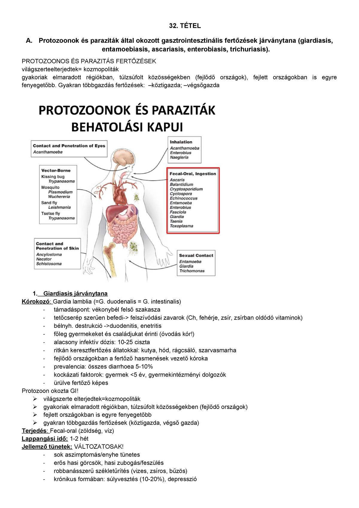 giardiasis egyénnél tünetek