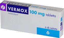 vermox tabletta adagolása