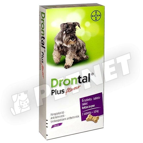 Drontal Plus ízesített féreghajtó tabletta 6db