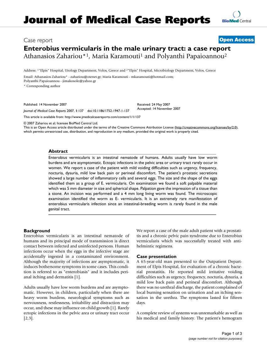 Aszcariasis enterobiosis hookworm fertőzés