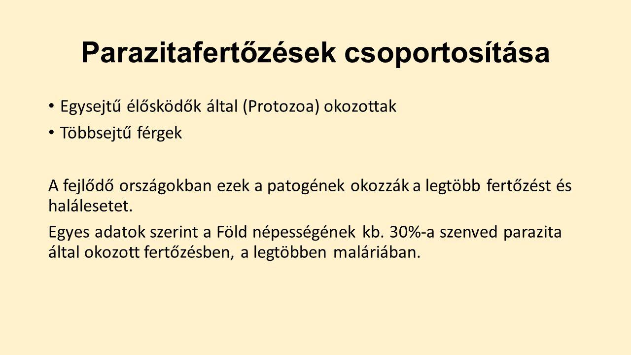protozoai paraziták emberben elmeszabályozó paraziták