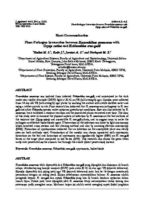 helminthosporium monoceras húsevő paraziták